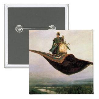 The Flying Carpet by Viktor Vasnetsov 1880 Pinback Buttons
