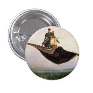 The Flying Carpet by Viktor Vasnetsov 1880 Pinback Button