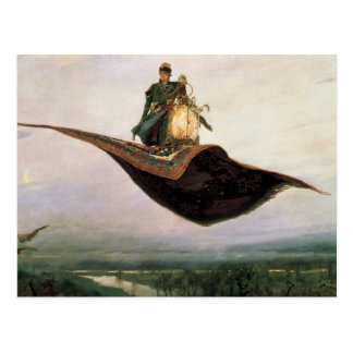 The Flying Carpet by Viktor Vasnetsov (1880) Postcard
