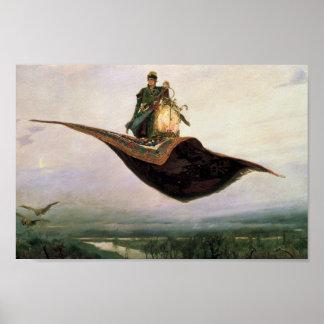 The Flying Carpet by Viktor Vasnetsov (1880) Posters