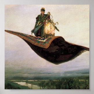 The Flying Carpet by Viktor Vasnetsov (1880) Print