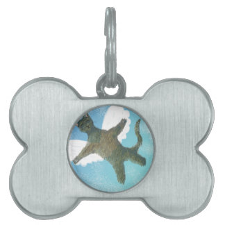 The Flying Cat Pet ID Tag