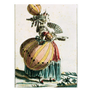 The Flying Coquette, c.1784 (colour engraving) Postcard