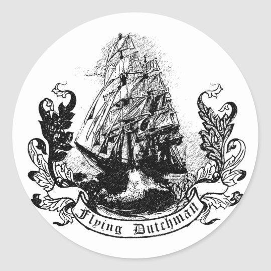 the flying dutchman classic round sticker