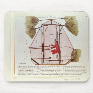 The Flying Machine of Jean Pierre Blanchard Mouse Pad