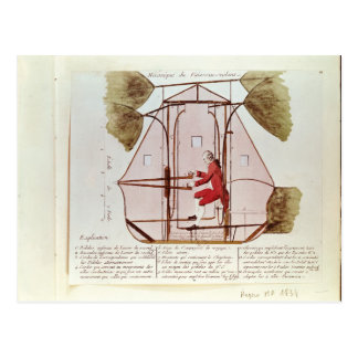 The Flying Machine of Jean Pierre Blanchard Postcard