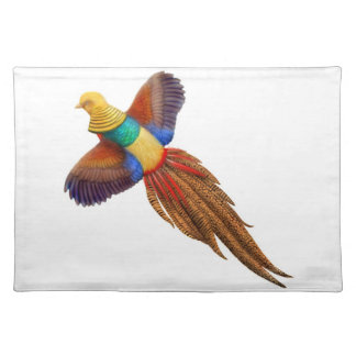 The Flying Male Golden Pheasant Placemat