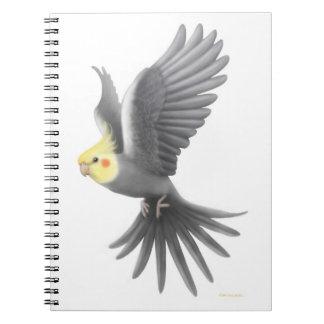 The Flying Pet Cockatiel Notebook