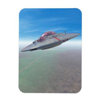 The Flying Saucer Rectangular Photo Magnet