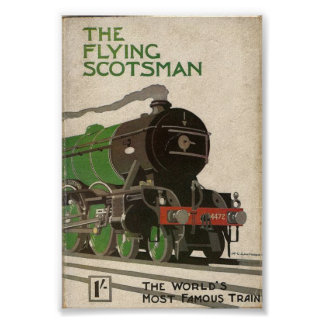 The Flying Scotsman vintage poster