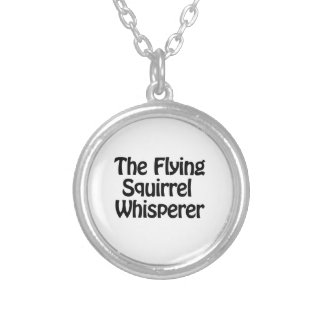 the flying squirrel whisper round pendant necklace