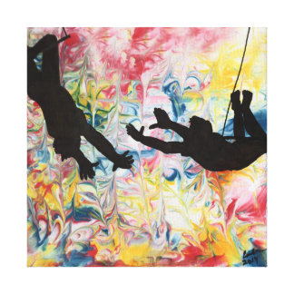 The Flying Trapeze Canvas Print