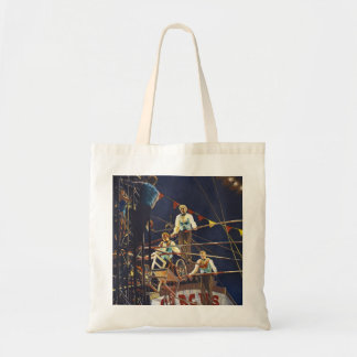 The Flying Wallendas Figurative Painting Tote Bag