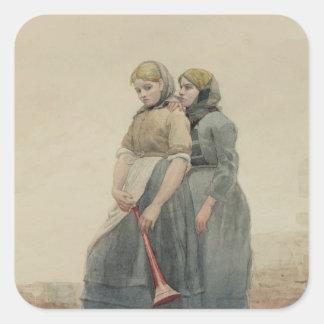 The Foghorn, 1883 (w/c) Square Sticker