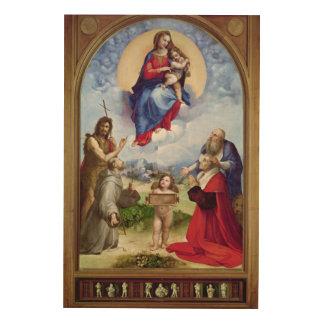 The Foligno Madonna, c.1511-12 Wood Print