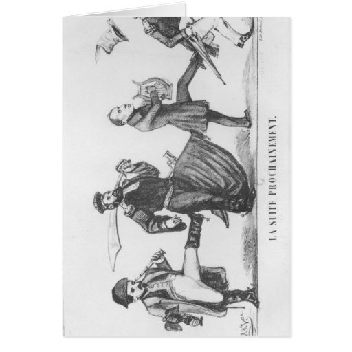 The Following Retinue, 20th December 1848 Greeting Card