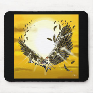 the folly and the fall of Icarus Mouse Pad