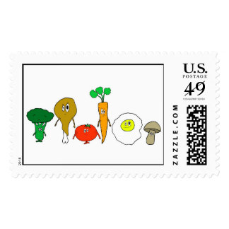 The Food Friends Stamps