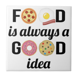 Funny Food Quotes Decorative Ceramic Tiles Zazzle
