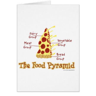 The Food Pyramid Explained Greeting Cards