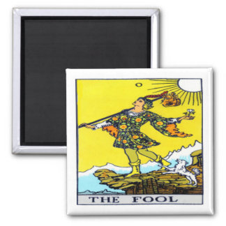 The Fool 2 Inch Square Magnet