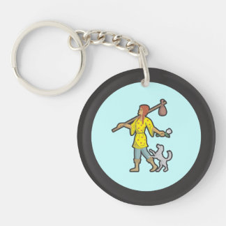 The Fool - Front and Back Keychain