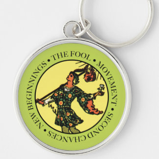 The Fool Keychain with Text