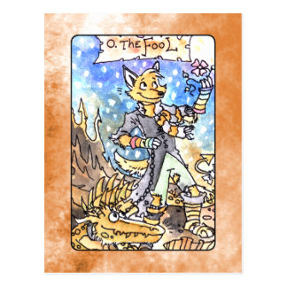 The Fool Tarot Postcard