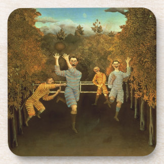The Football players,1908 (oil on canvas) Beverage Coaster