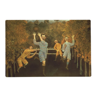 The Football players,1908 (oil on canvas) Placemat