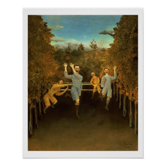 The Football players,1908 (oil on canvas) Poster