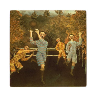 The Football players,1908 (oil on canvas) Wooden Coaster