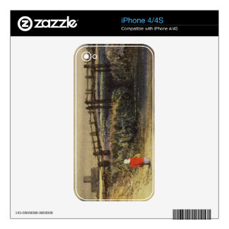 The Footbridge (Landscape with Red Cloak) (w/c and Decal For The iPhone 4