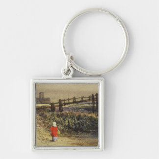 The Footbridge (Landscape with Red Cloak) (w/c and Key Chain