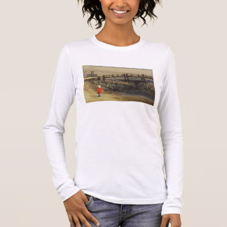The Footbridge (Landscape with Red Cloak) (w/c and Long Sleeve T-Shirt