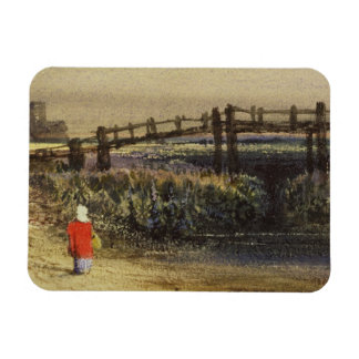The Footbridge (Landscape with Red Cloak) (w/c and Magnets