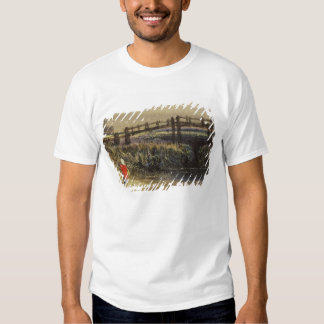 The Footbridge (Landscape with Red Cloak) (w/c and Shirt