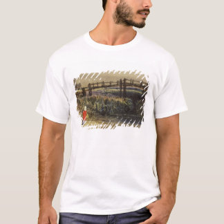 The Footbridge (Landscape with Red Cloak) (w/c and T-Shirt