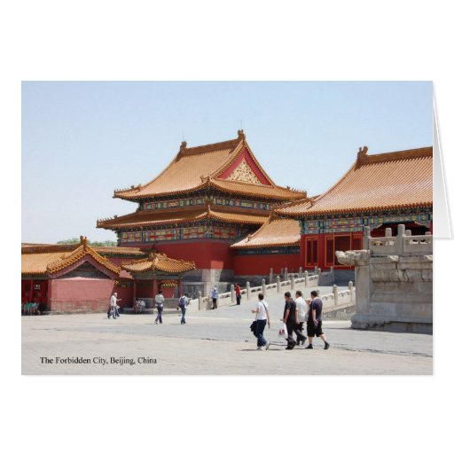 The Forbidden City. Beijing. China. Greeting Card