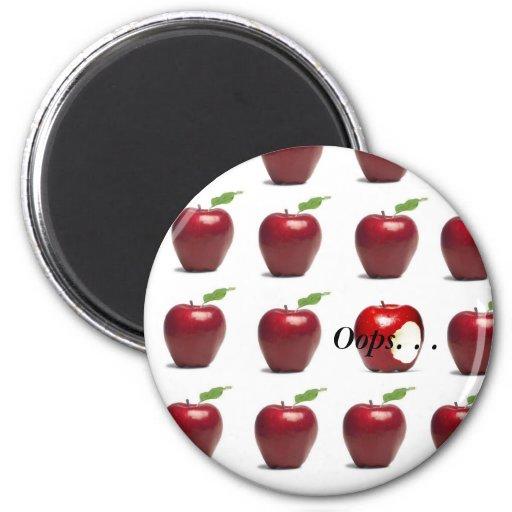 the forbidden fruit 2 inch round magnet