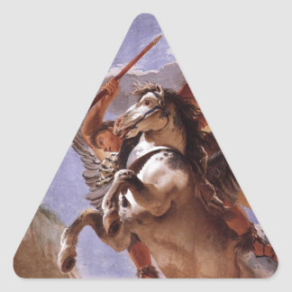 The Force of Eloquence, Bellerophon and Pegasus Triangle Sticker