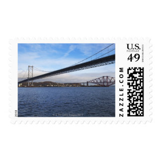 The foreground Forth Road Bridge is a suspension b Postage