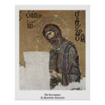 The Forerunner By Byzantine Mosaicist Poster