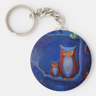 The forest at night - Keyring Keychain