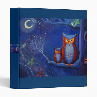 The Forest At Night - Owl art Binder