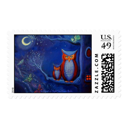 The Forest at Night - US Stamps