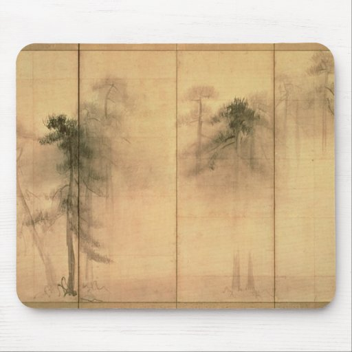 The forest of pines mouse pad