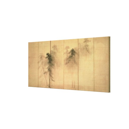 The forest of pines stretched canvas prints