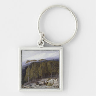 The Forest of Valdoniello, Corsica, 1869 (oil on c Keychain