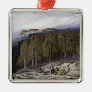 The Forest of Valdoniello, Corsica, 1869 (oil on c Metal Ornament